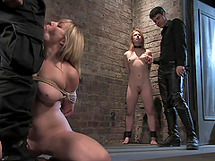 Kinky Blonde Sucks And Fucked Her..