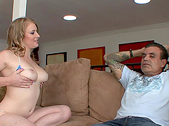 Rough Sex With An Old Man For The Busty Teen Alonna Red