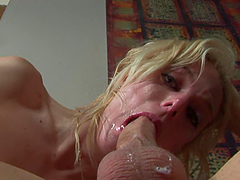 Teary Eyes For The Slutty Angela Stone After Deep Throating A Big Cock