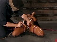 Black girl gets tied up and tortured..