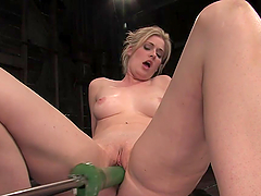 Horny Blonde's Nailed By Machines