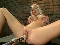 Kinky Blonde Loves To Fuck Machines