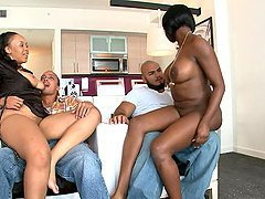 Ebony Hotties Get Double Trouble!
