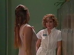 Two horny nurses get naked and start..
