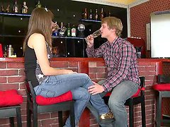 Banging a Teen Pussy Against the Bar..