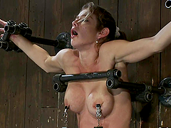 Chained girl gets her vagina ripped..