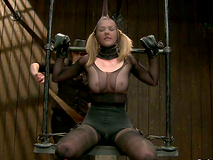 Rough BDSM action with pretty girl..