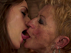 Short-Haired Granny Having Hot Lesbian..