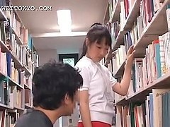 Cute asian teen girl teased in the..