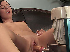 Insanely Hot Brunette Gets Machine..