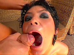 DP Action with an Insatiable Brunette!