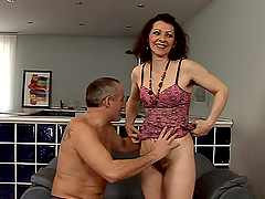 Mature lady with natural tits Debra is..