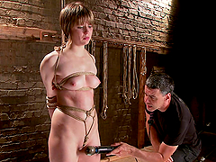 Hot Bondage Torture For A Horny Blonde Slave