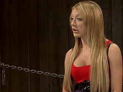 Blonde Amy Brooke gets ass toyed in..