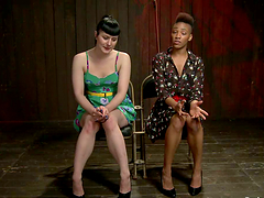 Black and White girls get tortured and toyed in BDSM video