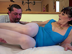 A filthy cock loving granny has found..