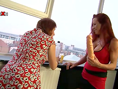 Hot redhead girl gets toyed and fisted..