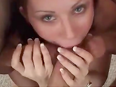 Busty Brunette Is Amazing Giving Head