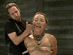 Blonde Bitch Is All Tied Up And Fucked