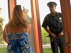 Insatiable Blonde Slut Brianna Love Pleasing Two Black Cops