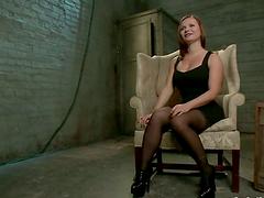 Tied up Katja Kassin gets fucked in..