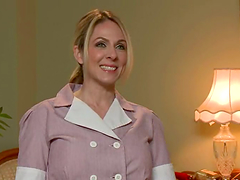 Blonde housemaid gets tied up and..
