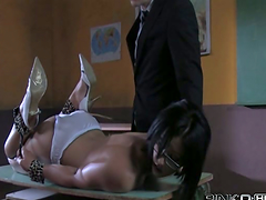Spanked secretary Cassie will ask for..