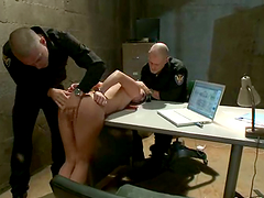 Hot Alysa gets tied up and fucked by..