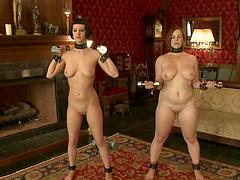Dildo Discipline for Naughty Slave