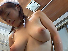 Asian Babe Titty Fucks Her Man While..