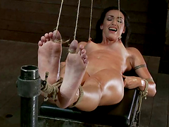 Wenona gets her tits tortured with..