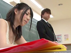 Hot Yui Igawa gets fucked in a..