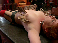 Short Haired Redhead's Totured And Fucked By Her Master