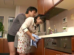 Chubby Japanese housewife gets pounded..