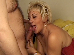Rough Sex With A Slutty Blonde Mature