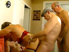 Mature Lady's Gangbanged By Horny Guys