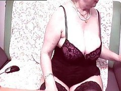 Lingerie Wearing Granny Shows Her Body..