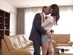 Curvy Japanese babe is moaning so loud with a cock in her muff