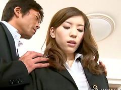 Yuria Ashina rides a cock passionately..