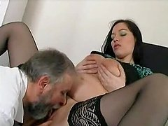 Hot slut gets her vag licked and..