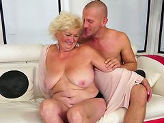 Tamara the horny granny gets toyed and..