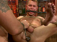 BDSM Gay Sex in the Pub with Ass..