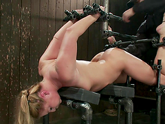 Big Titty Blonde Loves The Bondage..