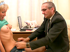 Blonde Teen Fucks Her Old Teacher Into..