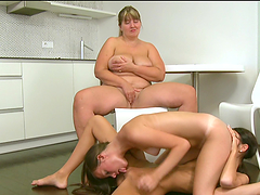 A Hot Threesome Among Lesbian Teens And Their Lesbian Teacher