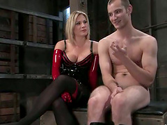 Submissive Guy Getting Cock Tortured..