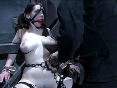 Busty Brunette's Tortured In A Bondage..