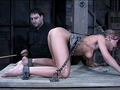 Blonde penetrated & tortured in bdsm scene