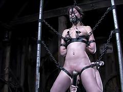 Hot Brunette In A Wild Bondage Scene