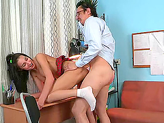 Horny Teen's Nailed By Her Old Teacher In This Hardcore Scene